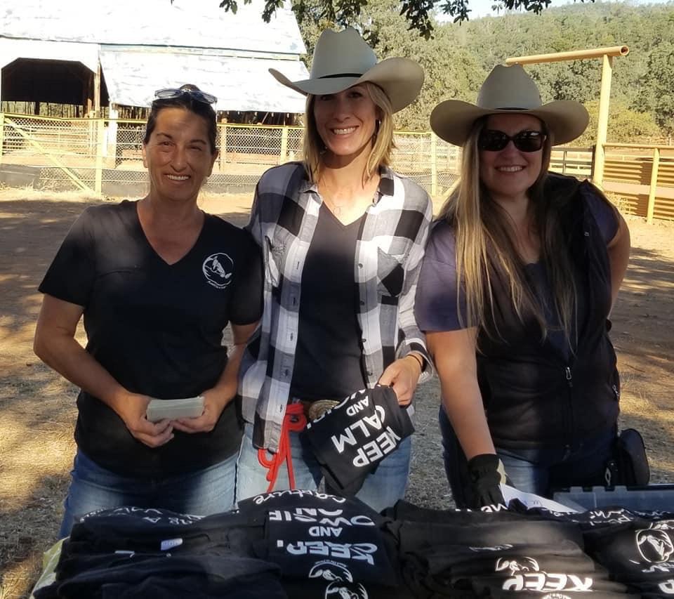 Dora Rossbach (ROTH Trainer, TX), Sarah Lockwood (ROTH Trainer, CA) and Heidi Savage (Horsewoman, Utah)