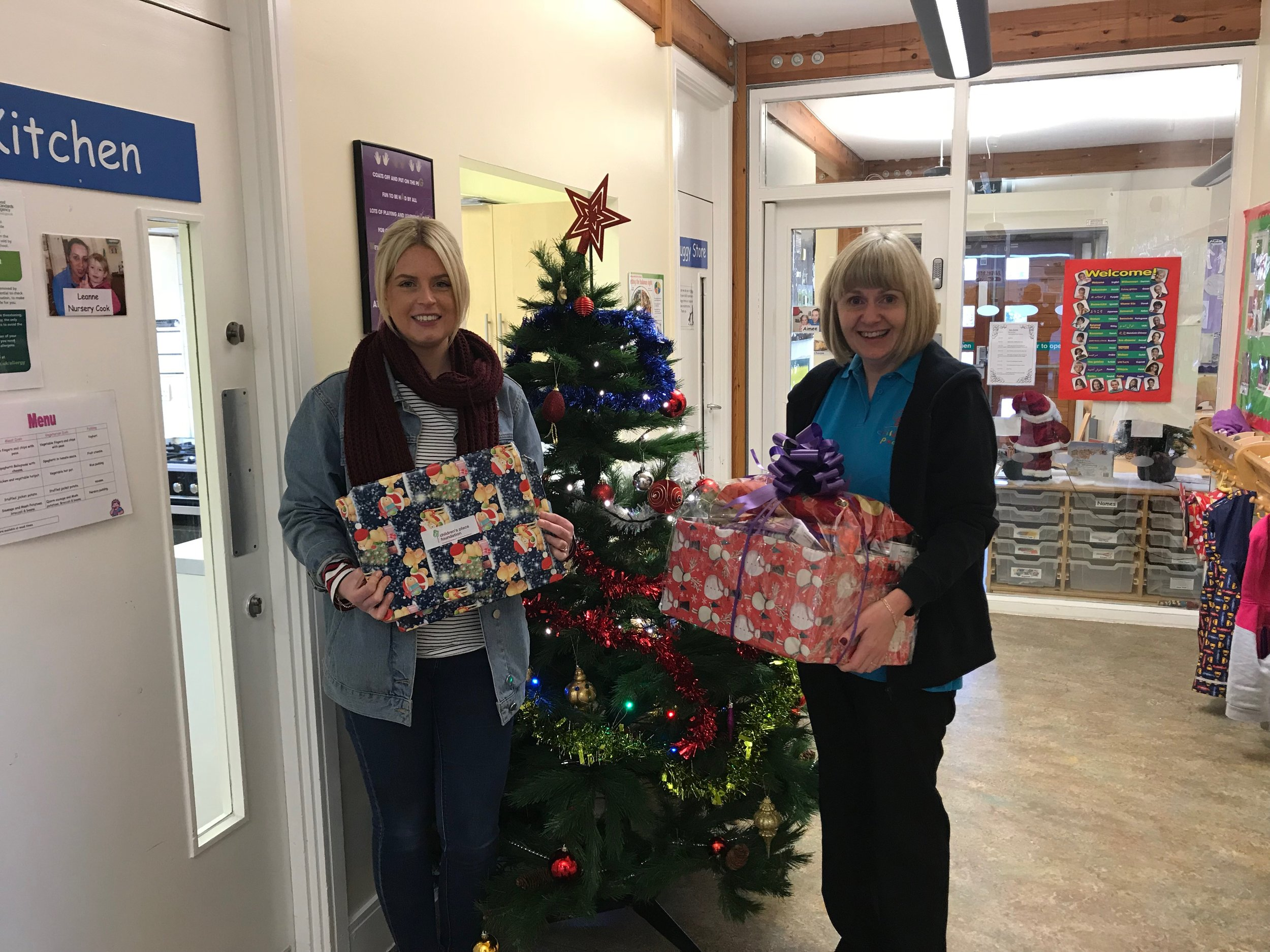 Hampers and gifts being delivered to children's services