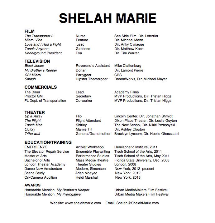 Shelah Marie Resume