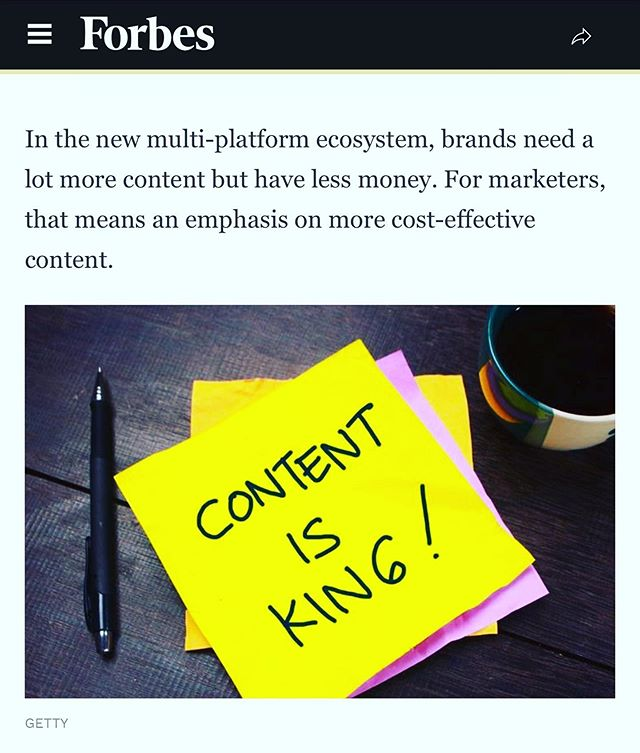 We'll just leave this recent @forbes article right here — Full article in bio  #contentisking #contentmarketing #womanowned #marketing #branding