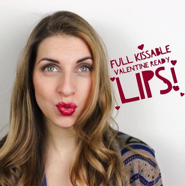 full red lips tutorial