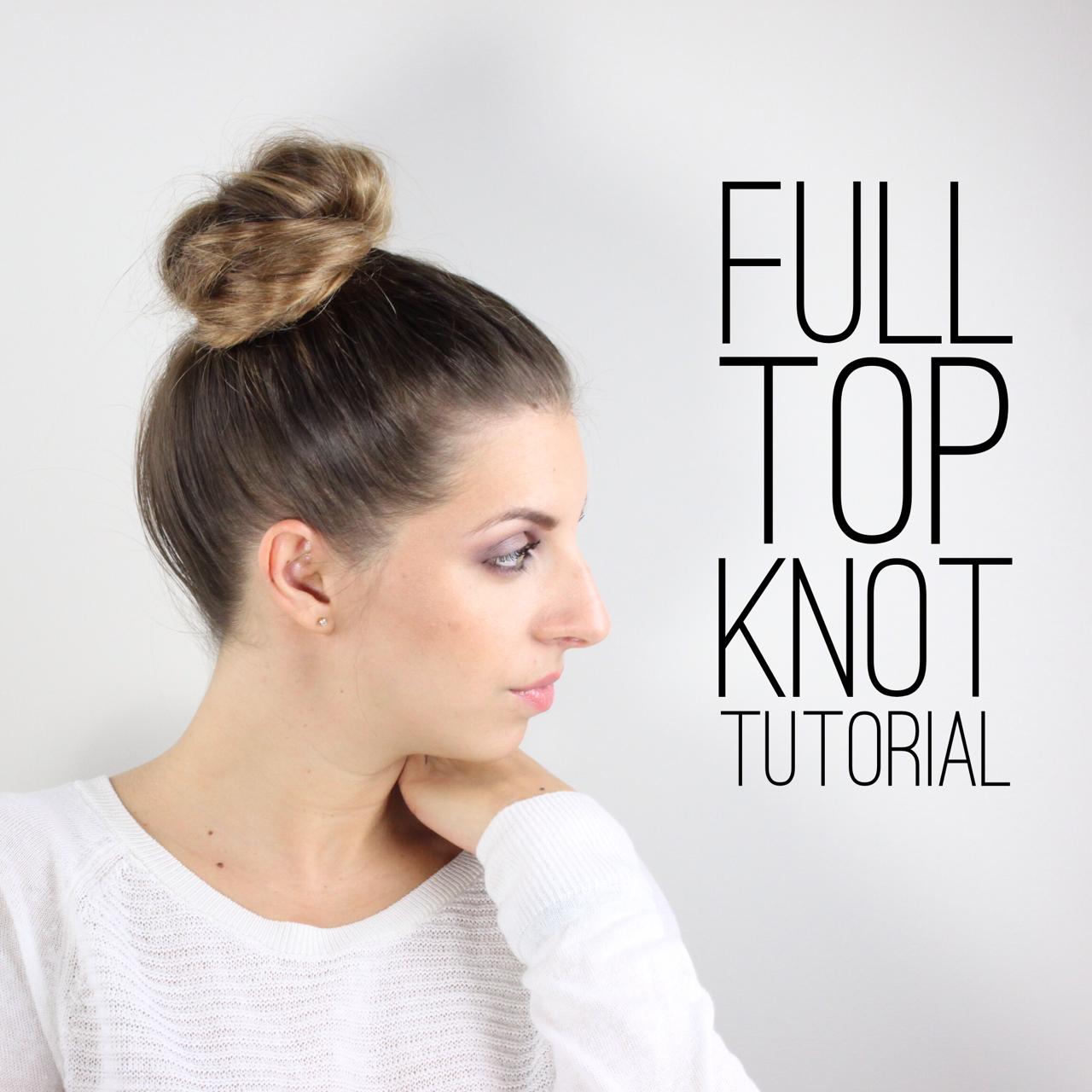 full top knot tutorial