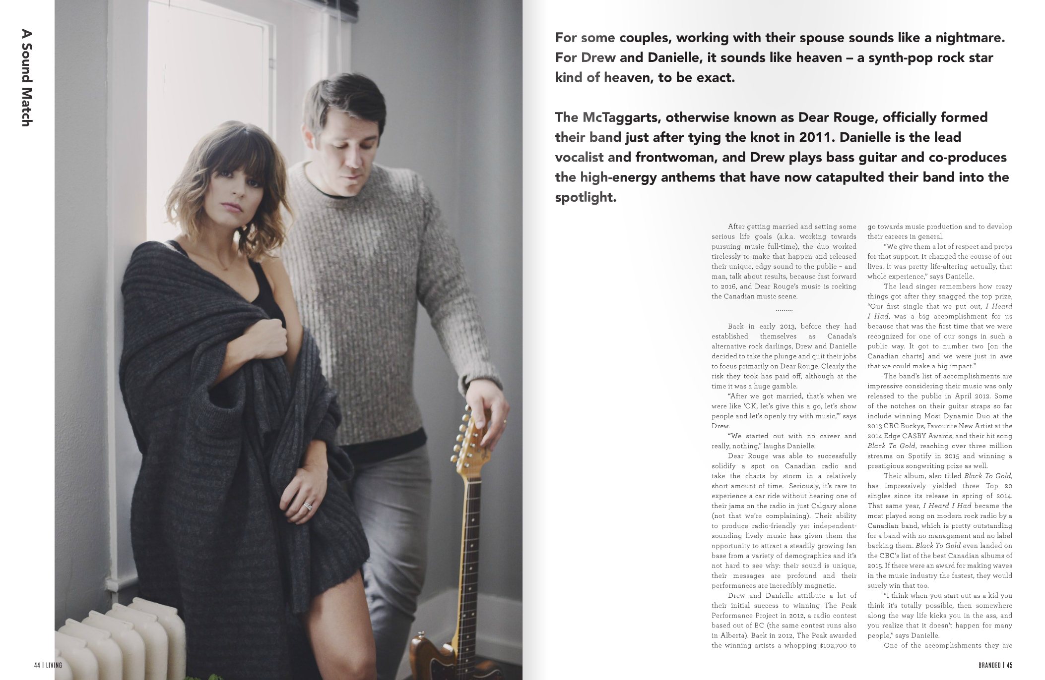 Dear Rouge feature in Branded Magazine