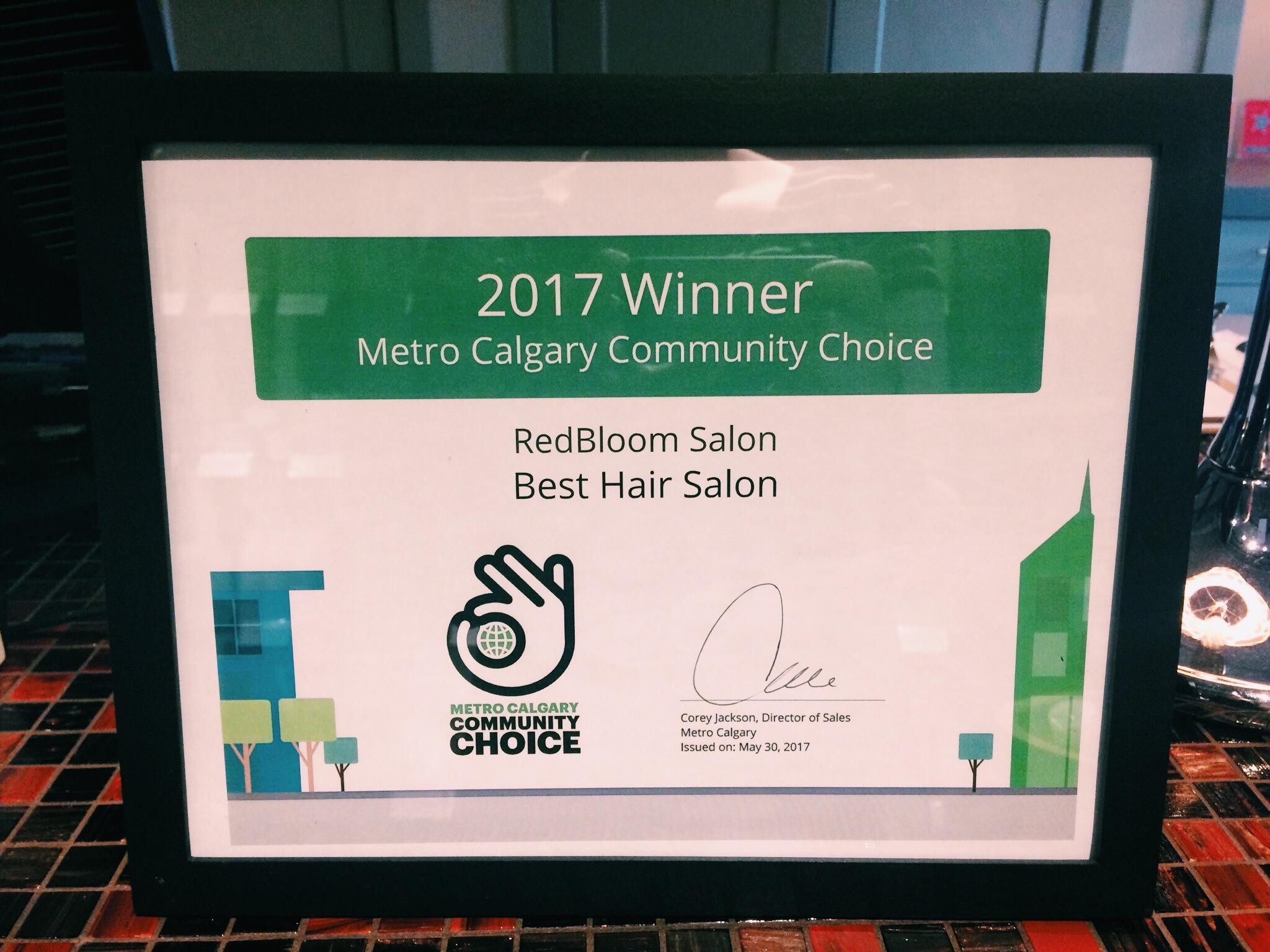 Best Hair Salon Metro Calgary Community Choice