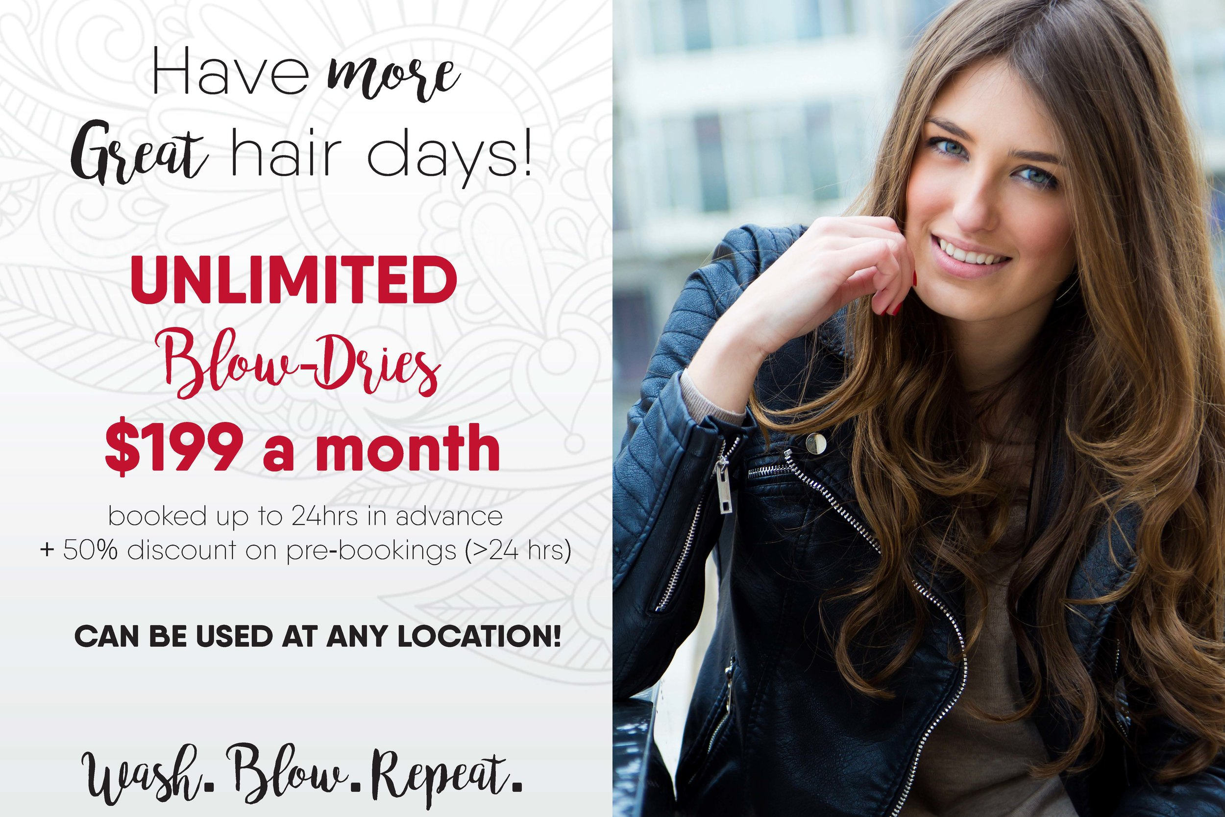 Unlimited blow-dry package
