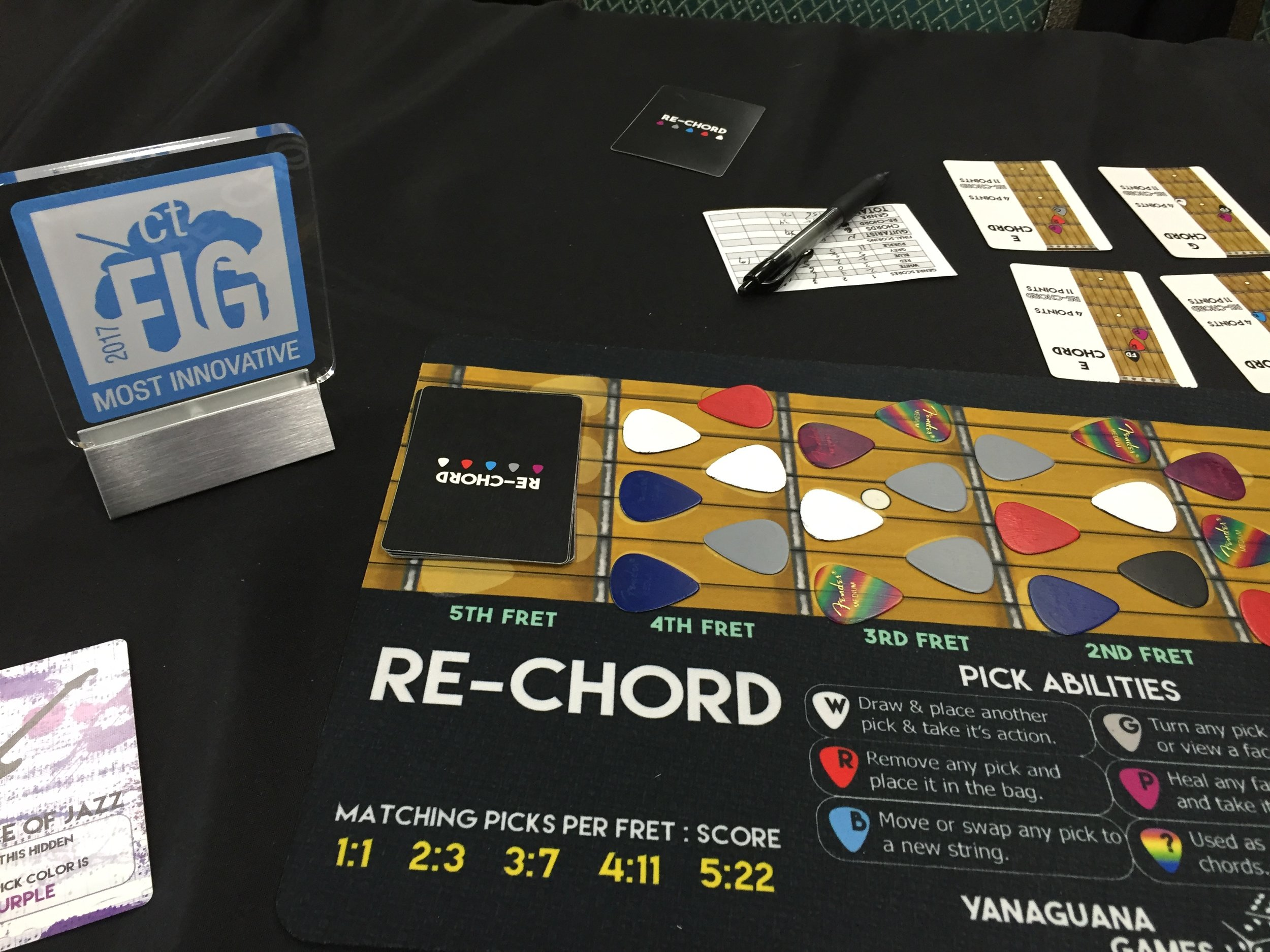 """Re-Chord won the 2017 Connecticut Festival of Indie Games """"Most Innovative"""" award."""
