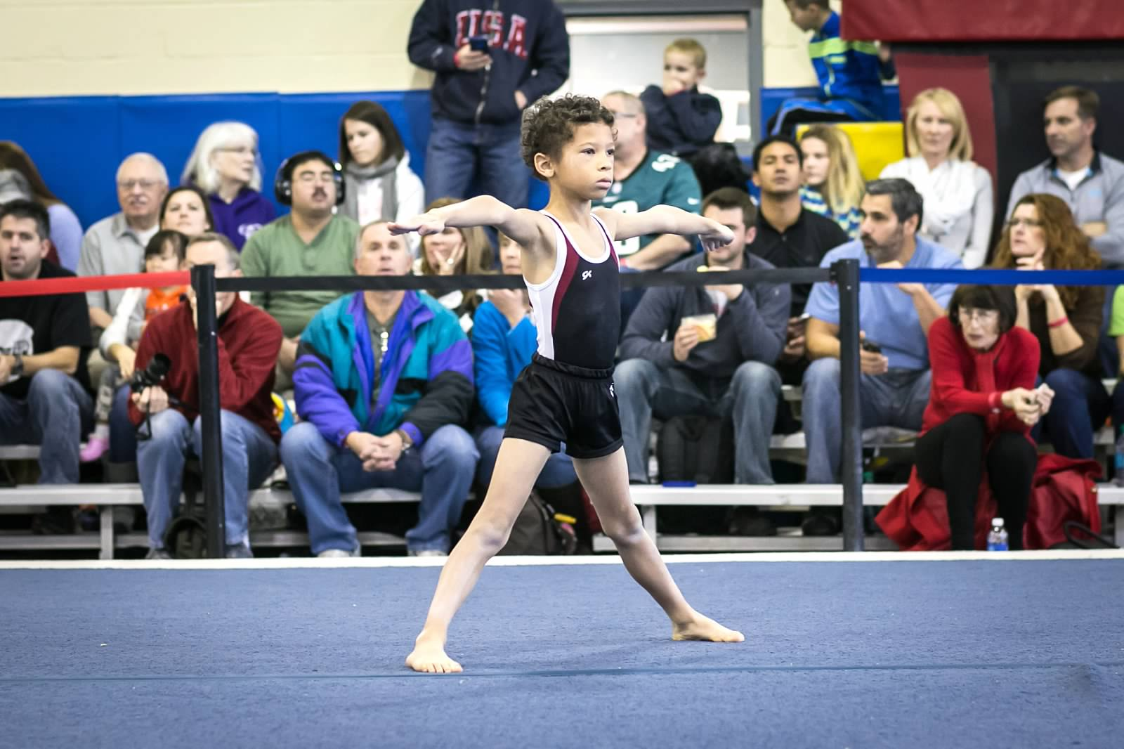 A Level 4 on the floor exercise during the 2014 BWI.