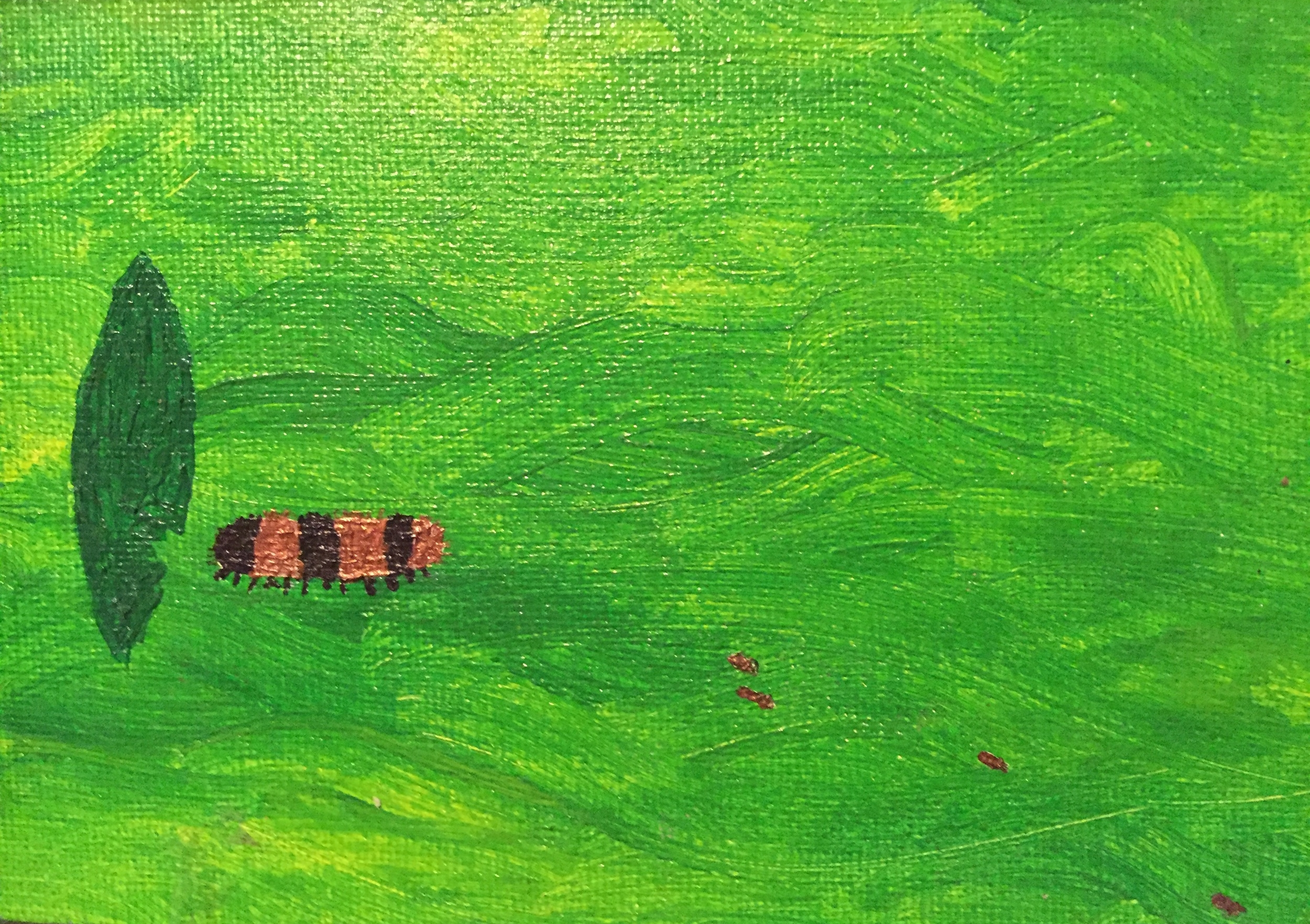 The Happy Regular Caterpillar.  acrylic on canvas