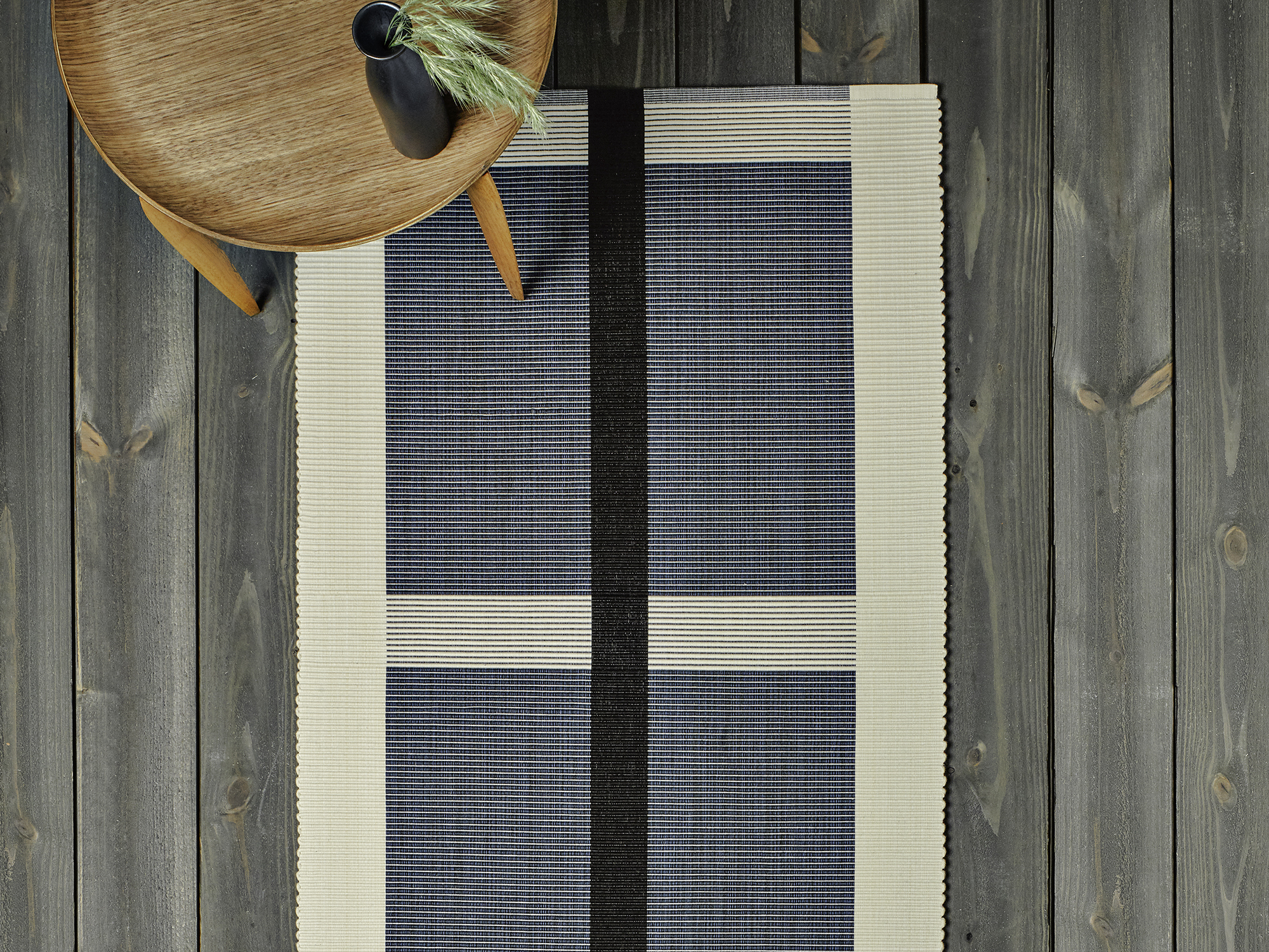 Handwoven Calcada Rug in Midnight