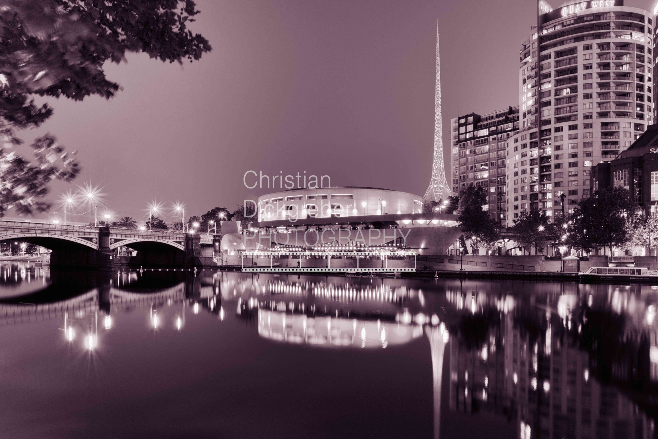 Melbourne - Yarra River, Hamer Hall and Arts Centre