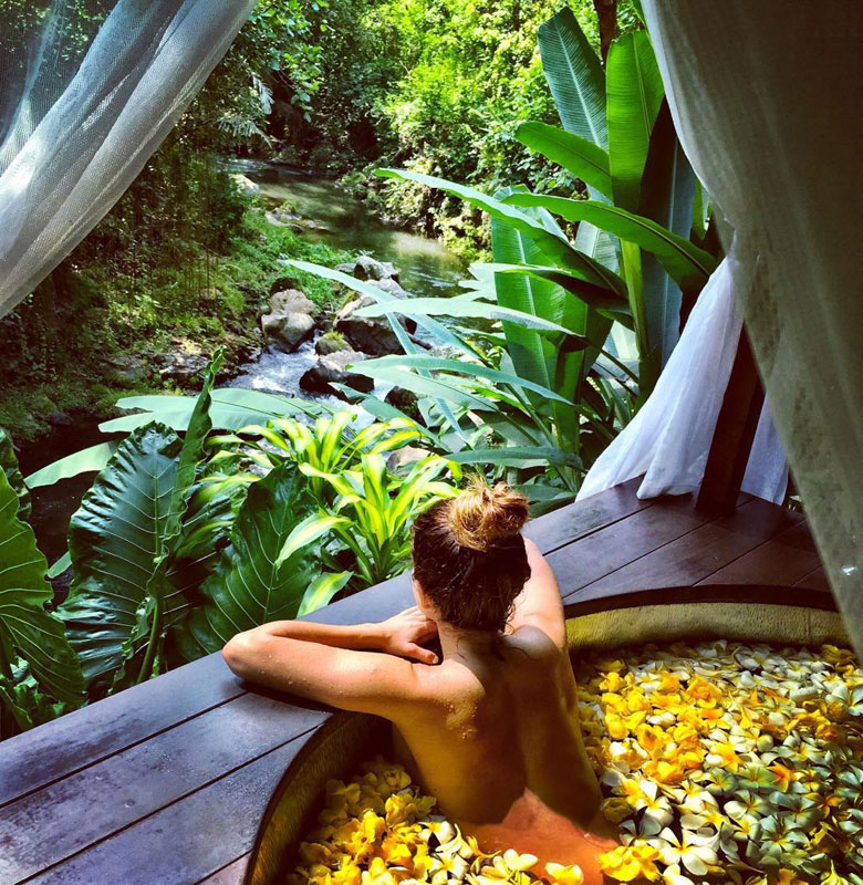 Balinese Flower Baths - No trip to Bali is complete without the complete indulgence of submersing yourself into a fragrant flower bath and the possibilities to do so in Bali are endless! Some of our favourites are Bali Botanica Day Spa and Karsa for flower baths!