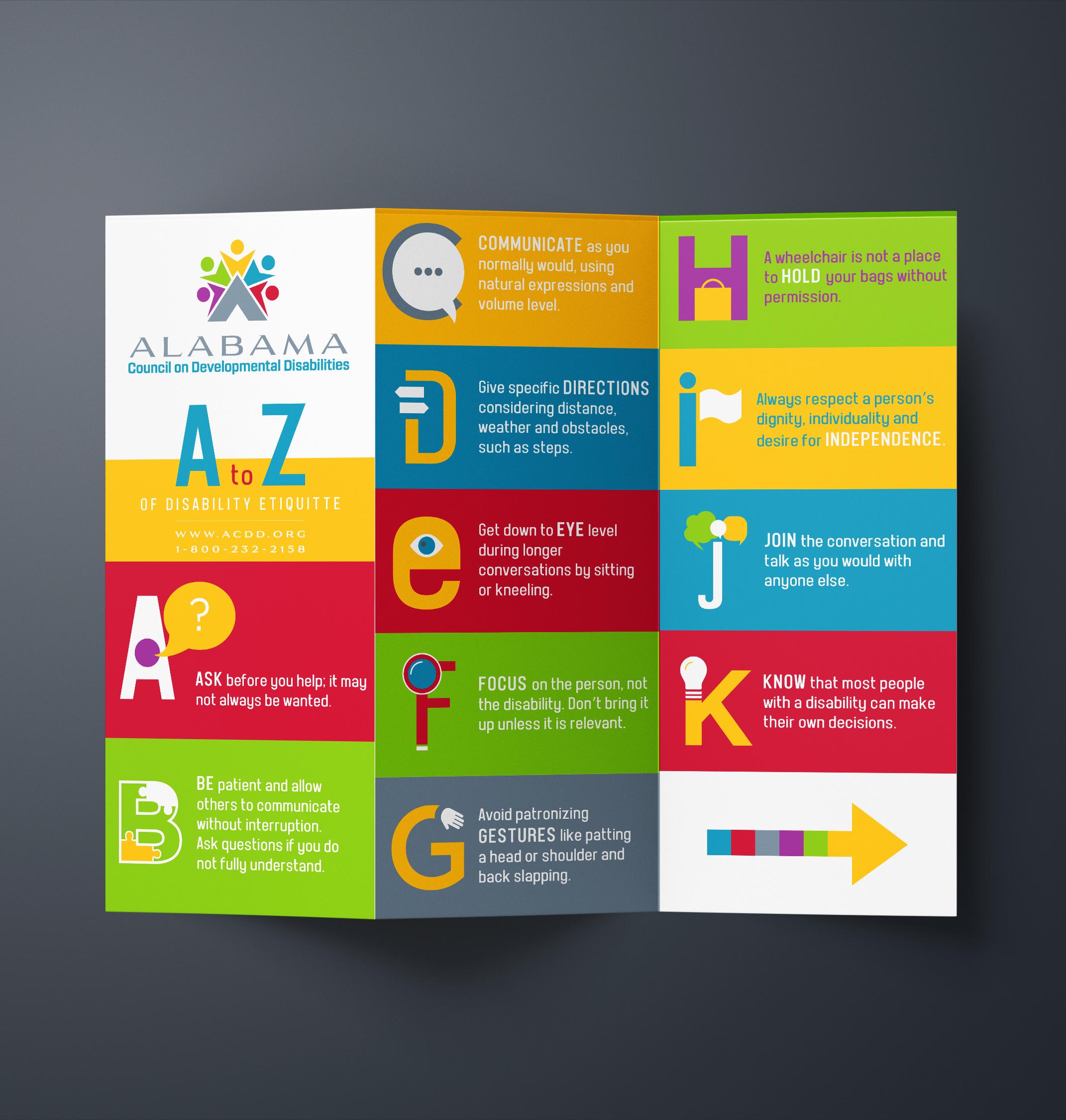 Alabama Council of Developmental Disabilities // Brochure Design