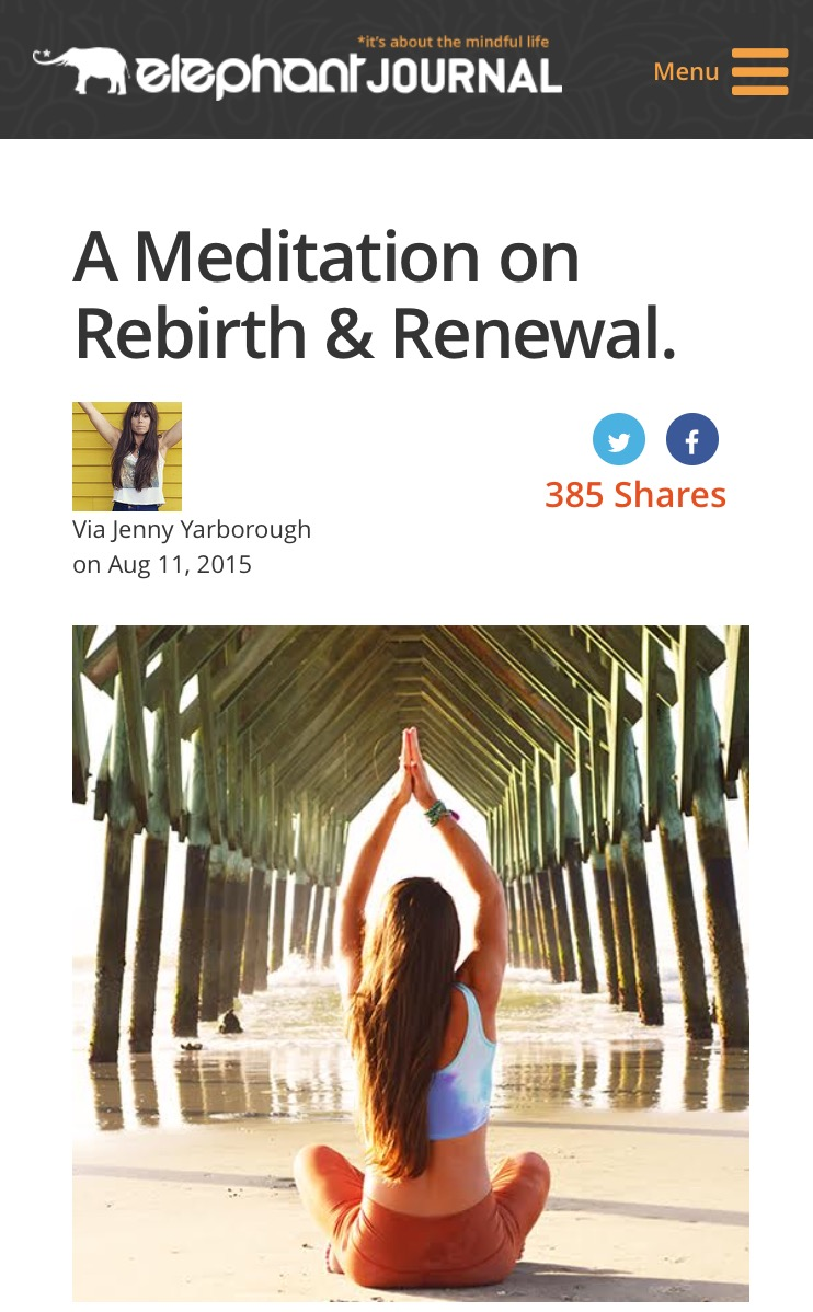 Read the revised version of this meditation on Elephant Journal  here.