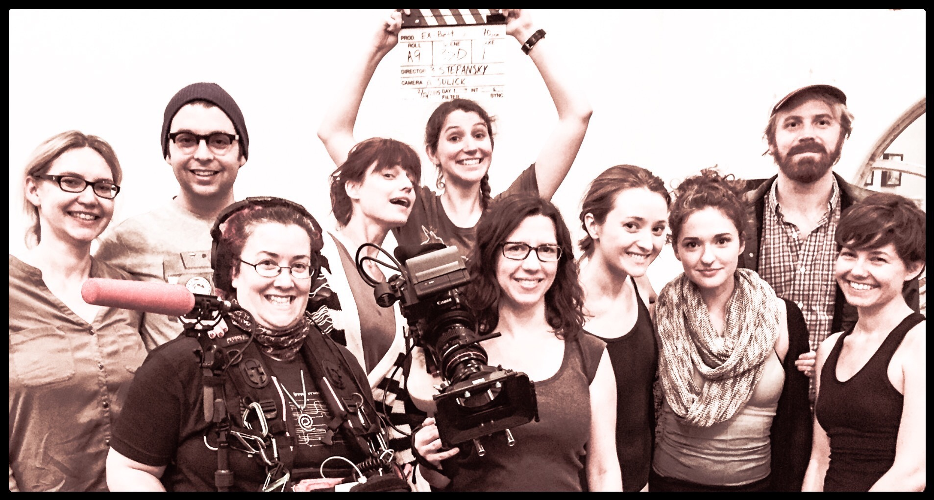 Our brilliant crew! Hooray for Women In Film (plus a George and a Dylan!)