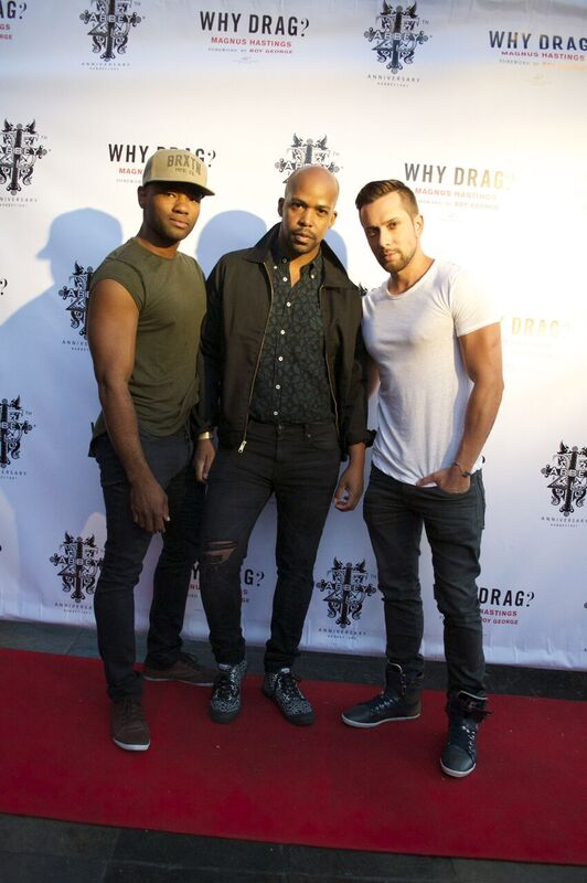 Quentin Fears (Editor-in-Chief of Fop) With David Hernandez (American Idol)and friend - Photo by Bobby Martinez