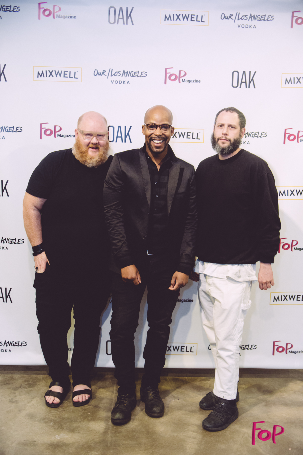 OAK NYC Co-Owners Jeff Madalena & Louis Terline with Fop Magazine Editor-in-Chief, Quentin Fears