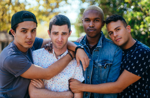 """""""I'm Fine"""" cast: (l-r) Lee Doud, Perry Powell, Richard Stokes and Ulysses Morazan"""