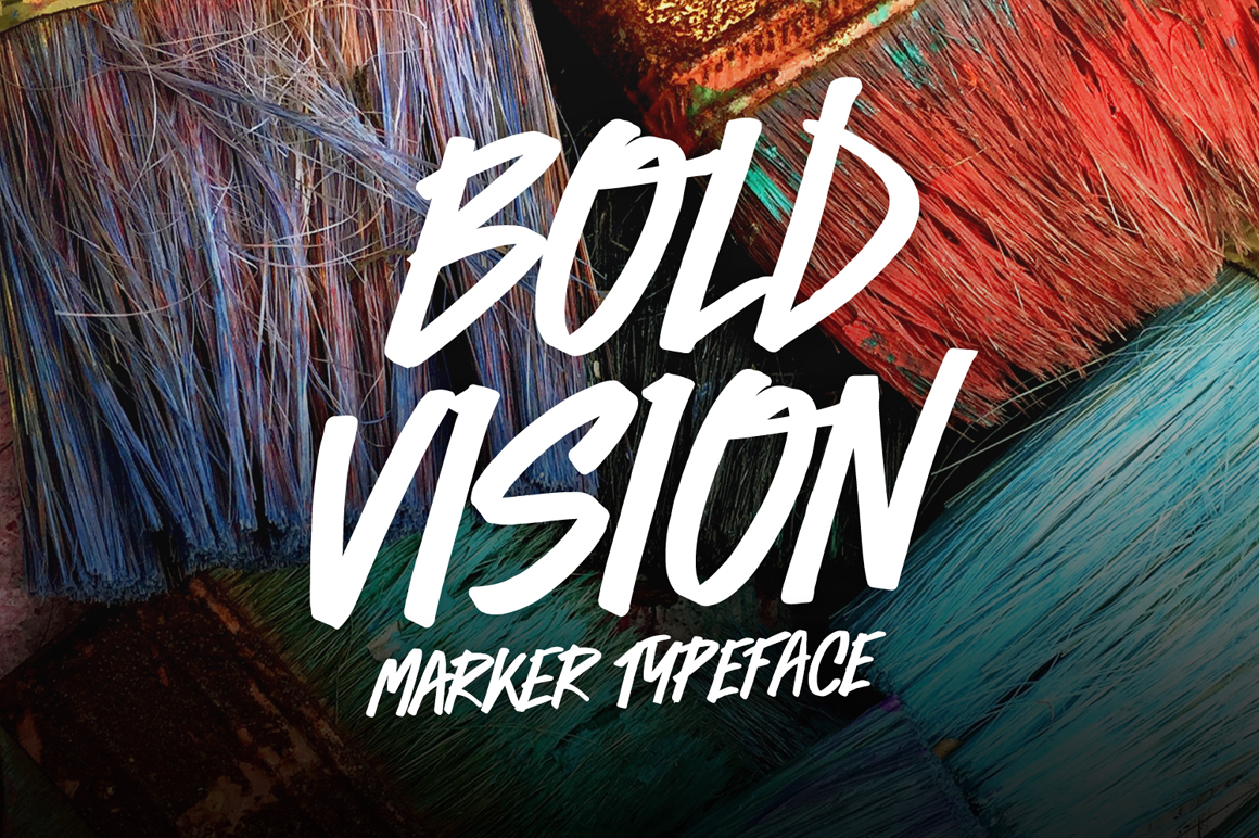 Bold Vision Marker Font - Available on Creative Market