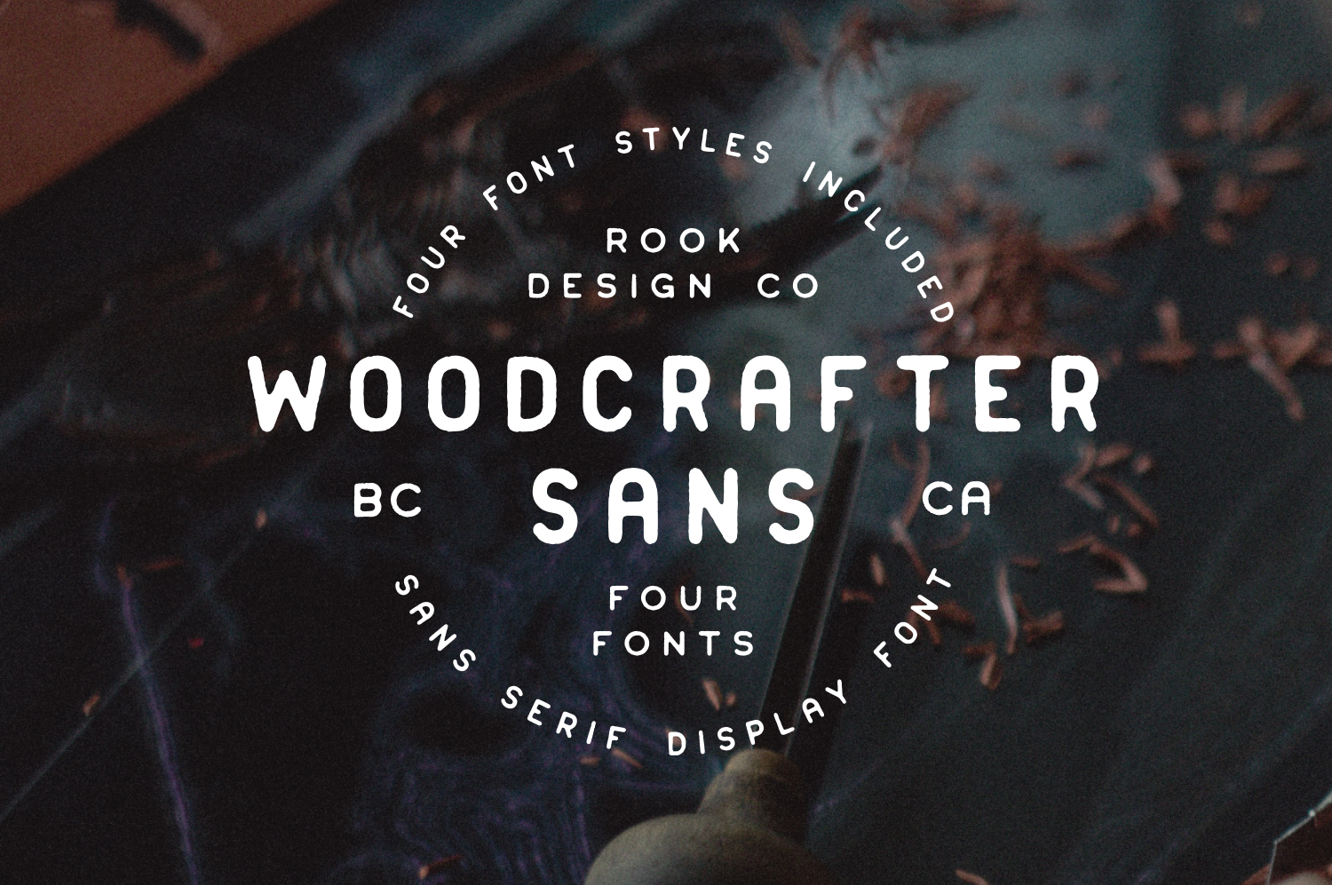 Woodcrafter Sans - Available on Creative Market
