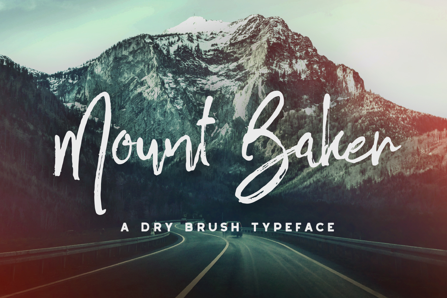 Mount Baker Brush Font - Available on Creative Market