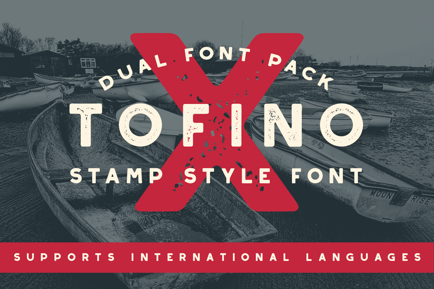 Tofino Stamp Font - Available on Creative Market
