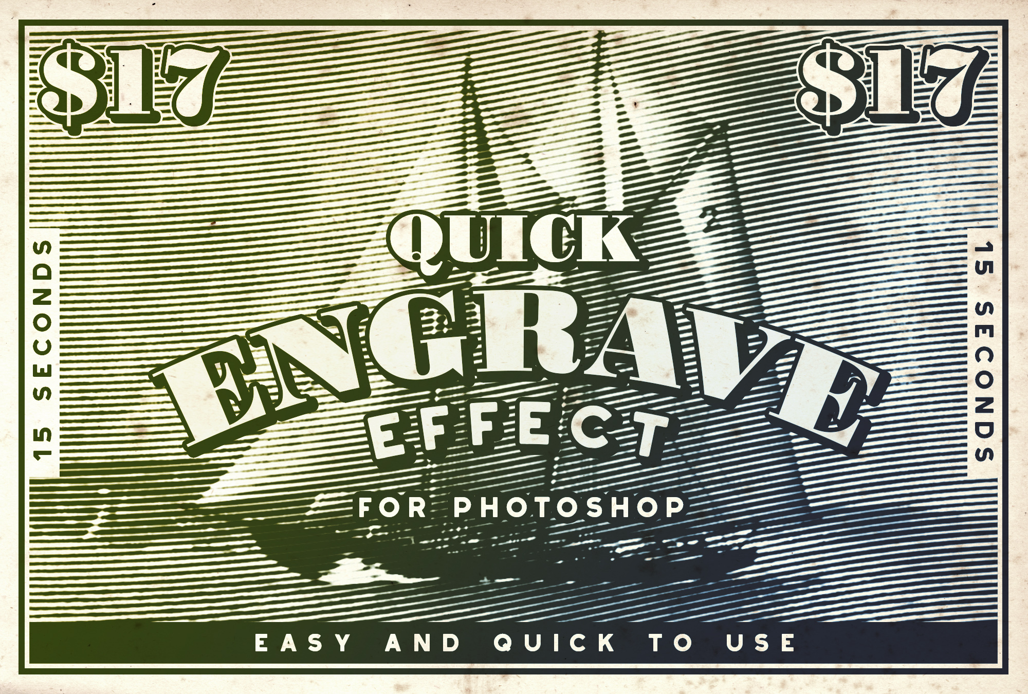 Quick Engrave Effect - Available on Creative Market