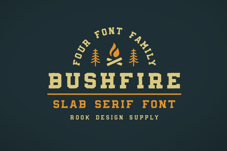 Bushfire Slab Serif - Available on Creative Market