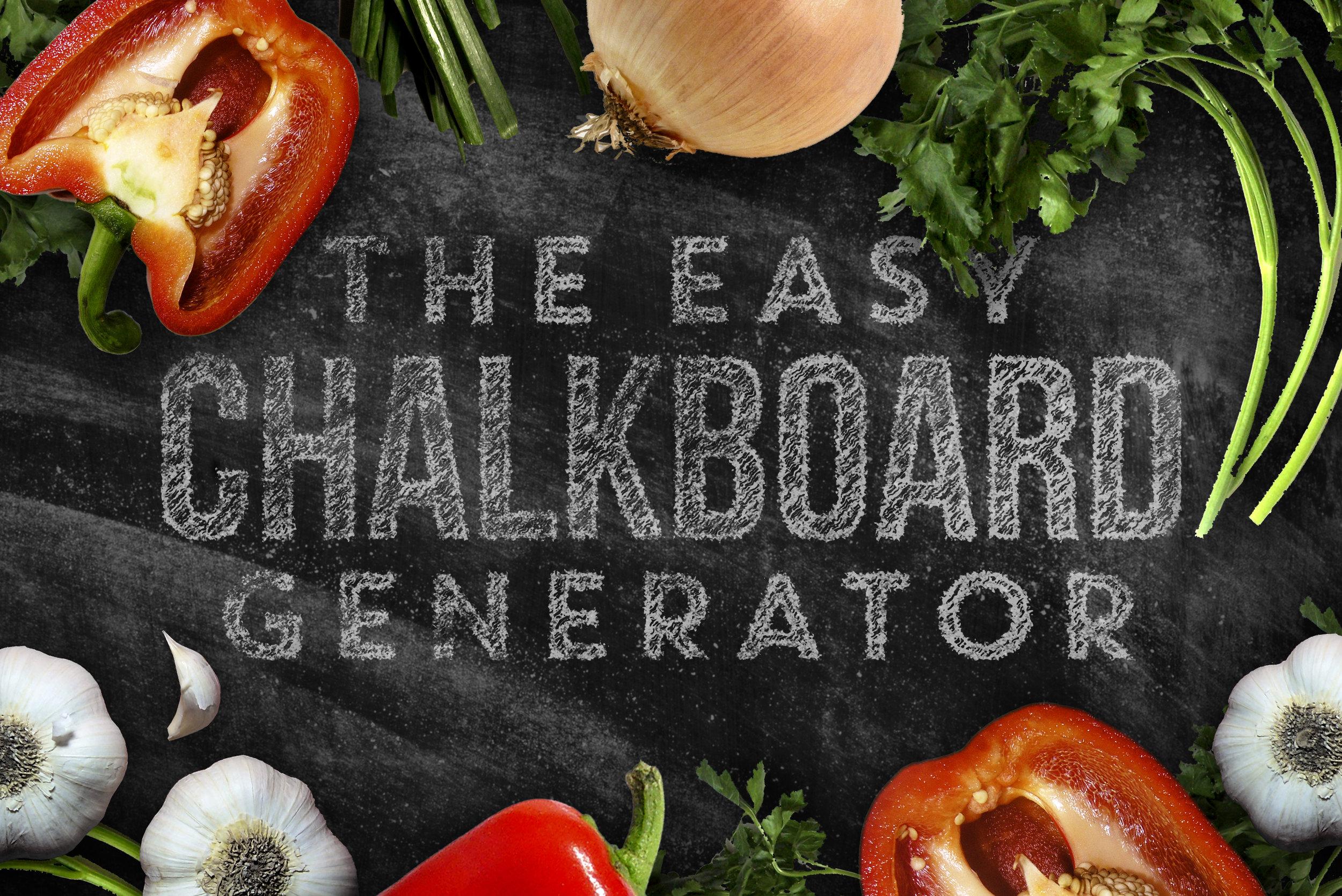 Chalkboard Generator - Available on Creative Market