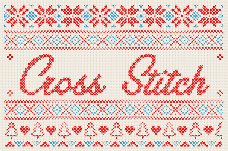 Cross Stitch Effect - Available on Creative Market