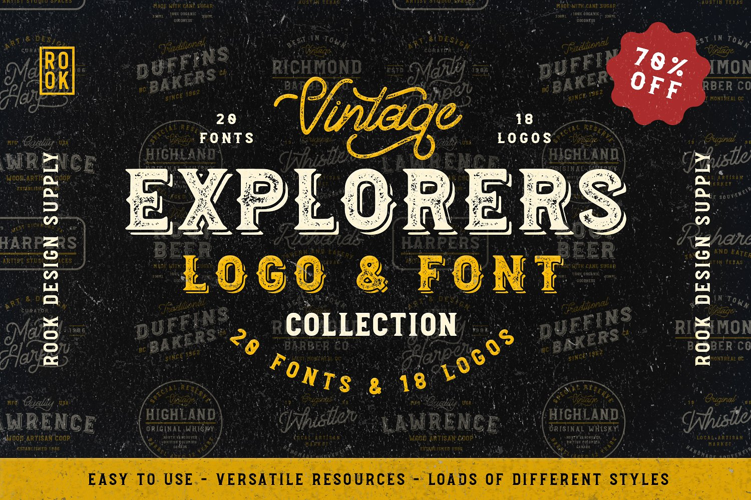 Explorers Logo & Font Collection - Available on Creative Market