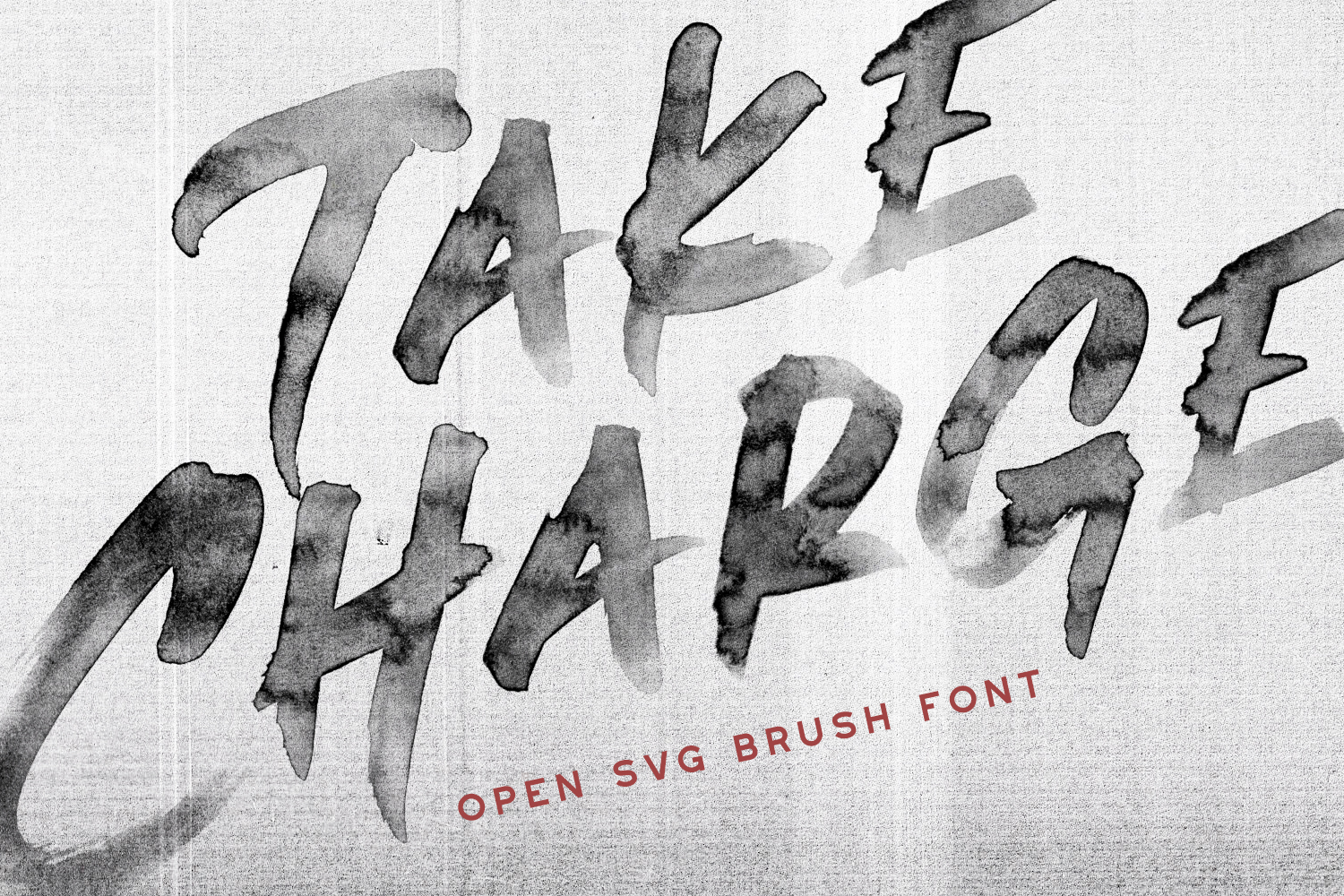 Take Charge - OpenSVG Font - Available on Creative Market