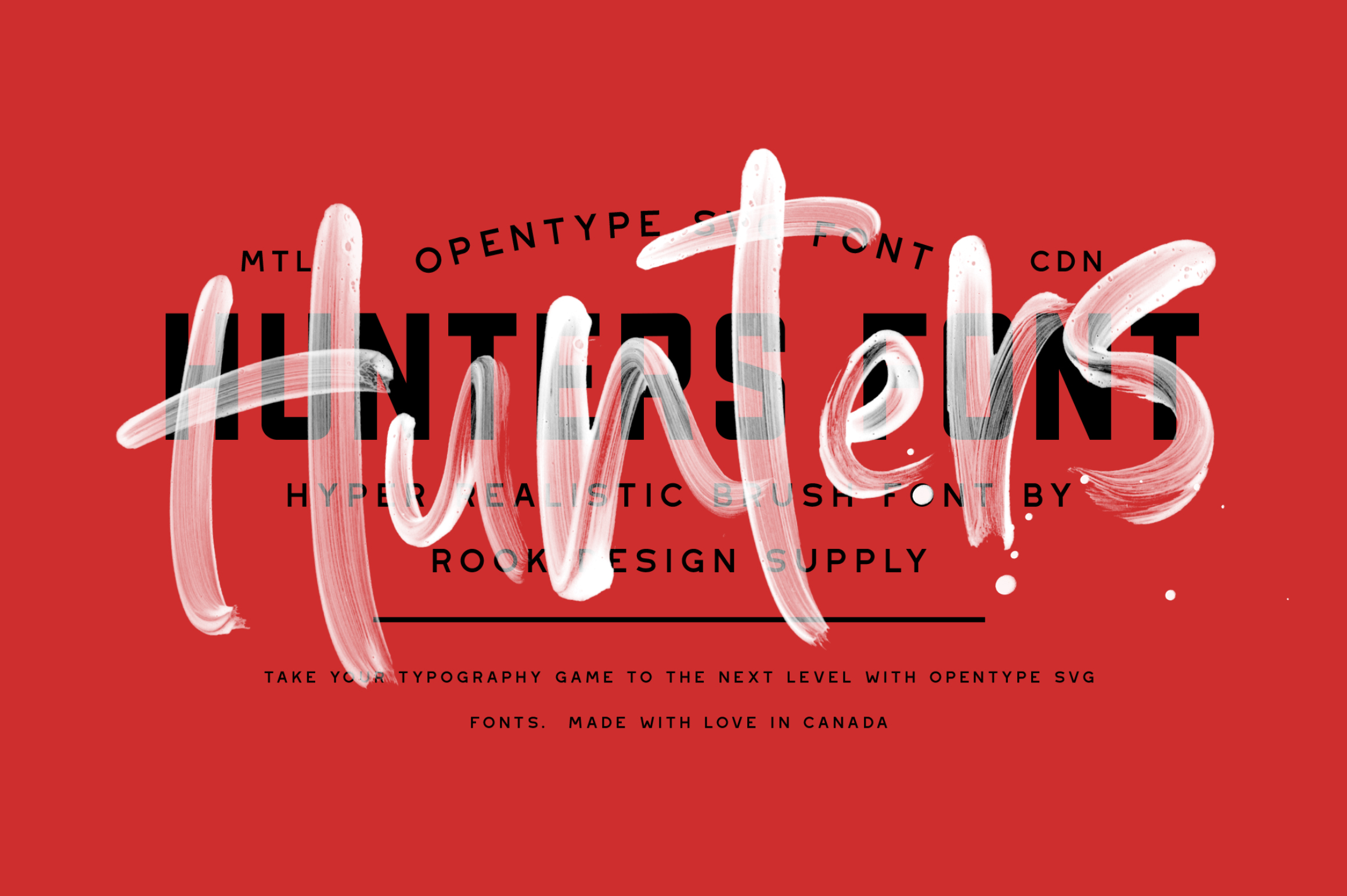Hunters - Opentype SVG - Available on Creative Market