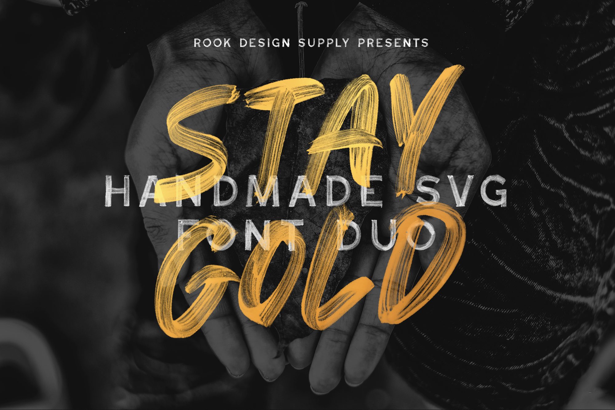 Stay Gold SVG Font Duo - Available on Creative Market