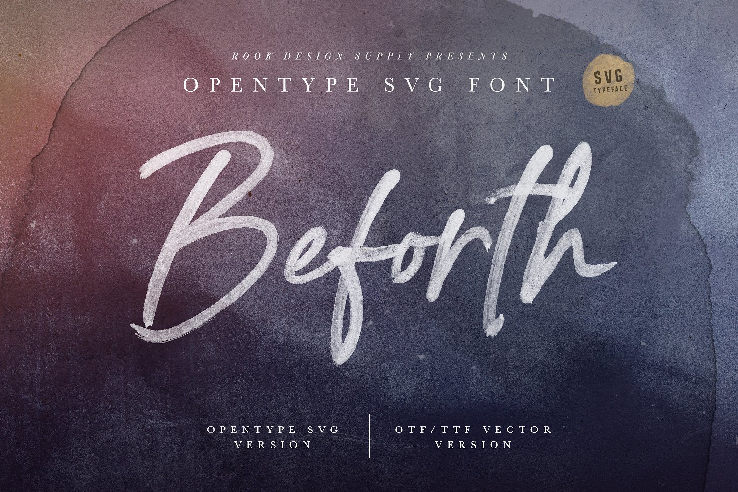 Beforth SVG Font - Available on Creative Market