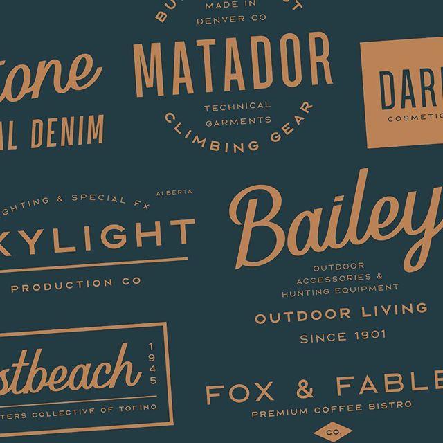 Logo design templates galore!  #logodesign #photoshop #creativemarket #myfonts #creativecloud #illustrator #adobe #mtldesigner #canadagraphicdesign #hipsterlogo #logotemplates #modernlogo #logos #logo #scriptlogo #scriptlettering