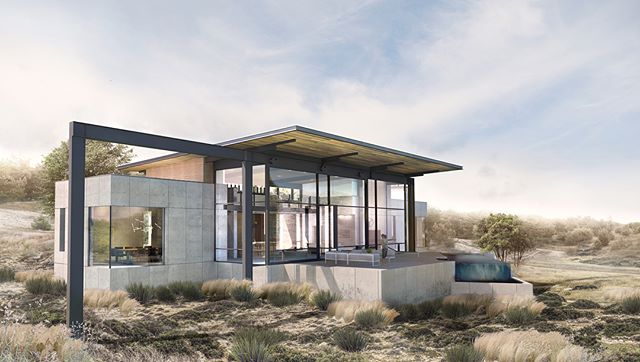 Our design for an awesome house coming soon to the Texas Hill country. #swiperight for a #bigdoor !!! We can not wait to have this one under construction!! Lots of our favorite materials coming your way soon: concrete, steel, & glass! Rendering by the amazing Anna, aka. @anna_niespie . . . #modern #architecture #design #rendering #drawing #moderndesign #modernarchitecture #designlife #modernsteel #modernglass #modernconcrete #modernart #dwell #art #architectureporn #architecturelovers @arch_more @arc.only @arch_grap @utsoa @architizer @critday @modern.architect