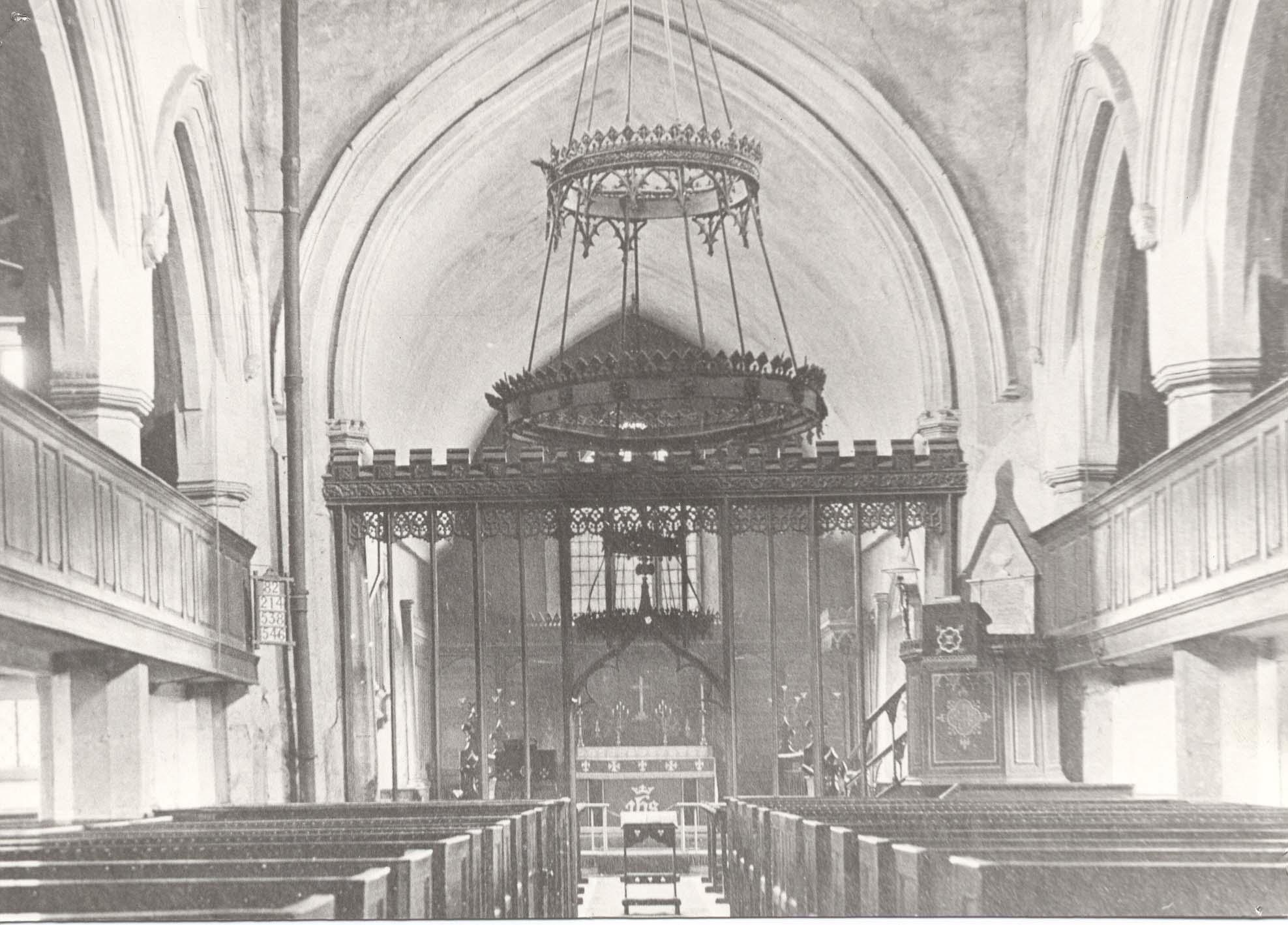 Inside the nave, circa 1900
