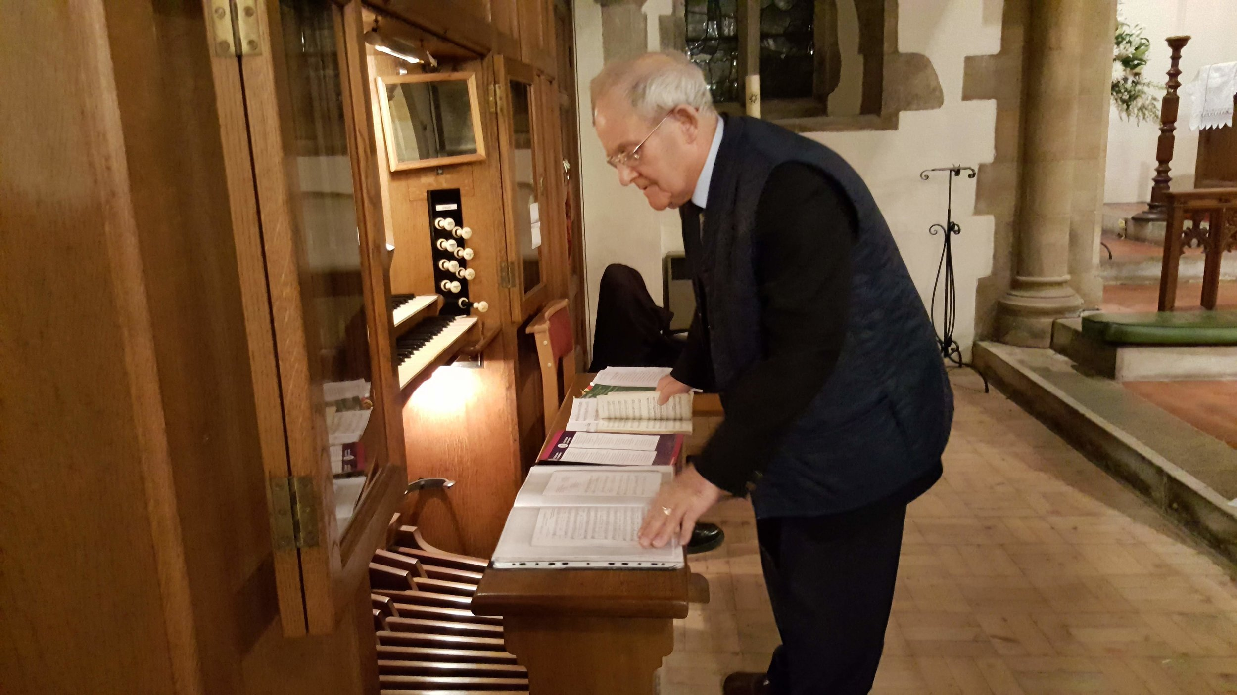 Organist, Jack Young on the Harrison & Harrison organ