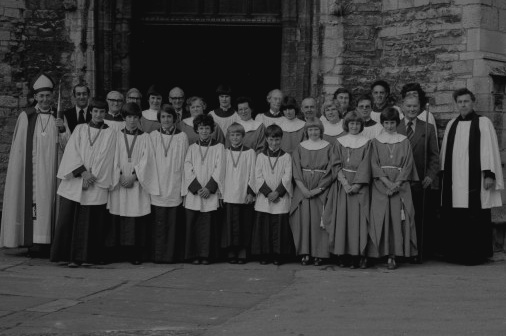 1980 choir with Revd David Towers