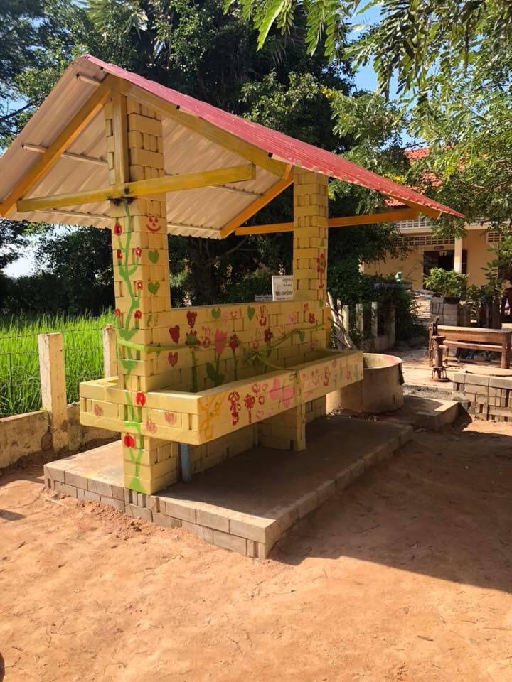 "Wash House at Ta Trav Primary. This particular wash house was sponsored by our valued partners Arkoun Handmade and built with love by a ""Family friendly"" team of volunteers including: Tracey, Georgie, Charlotte, Heidi, Charlie, Tiff, Arch, Andrea, Mitch, Muz, Daisy and Cooper and our team."
