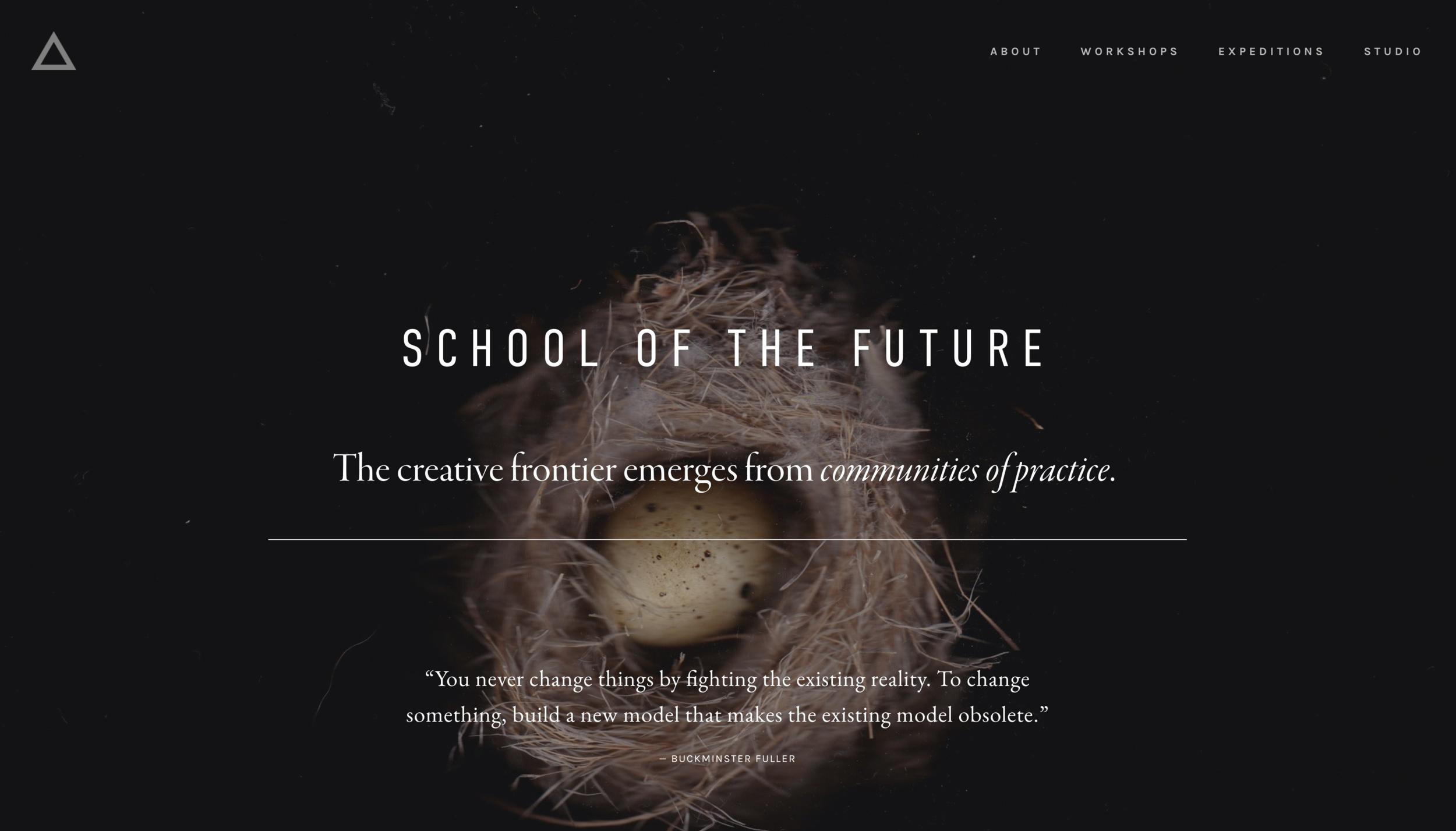 New Ritual Studio website / Workshops overview