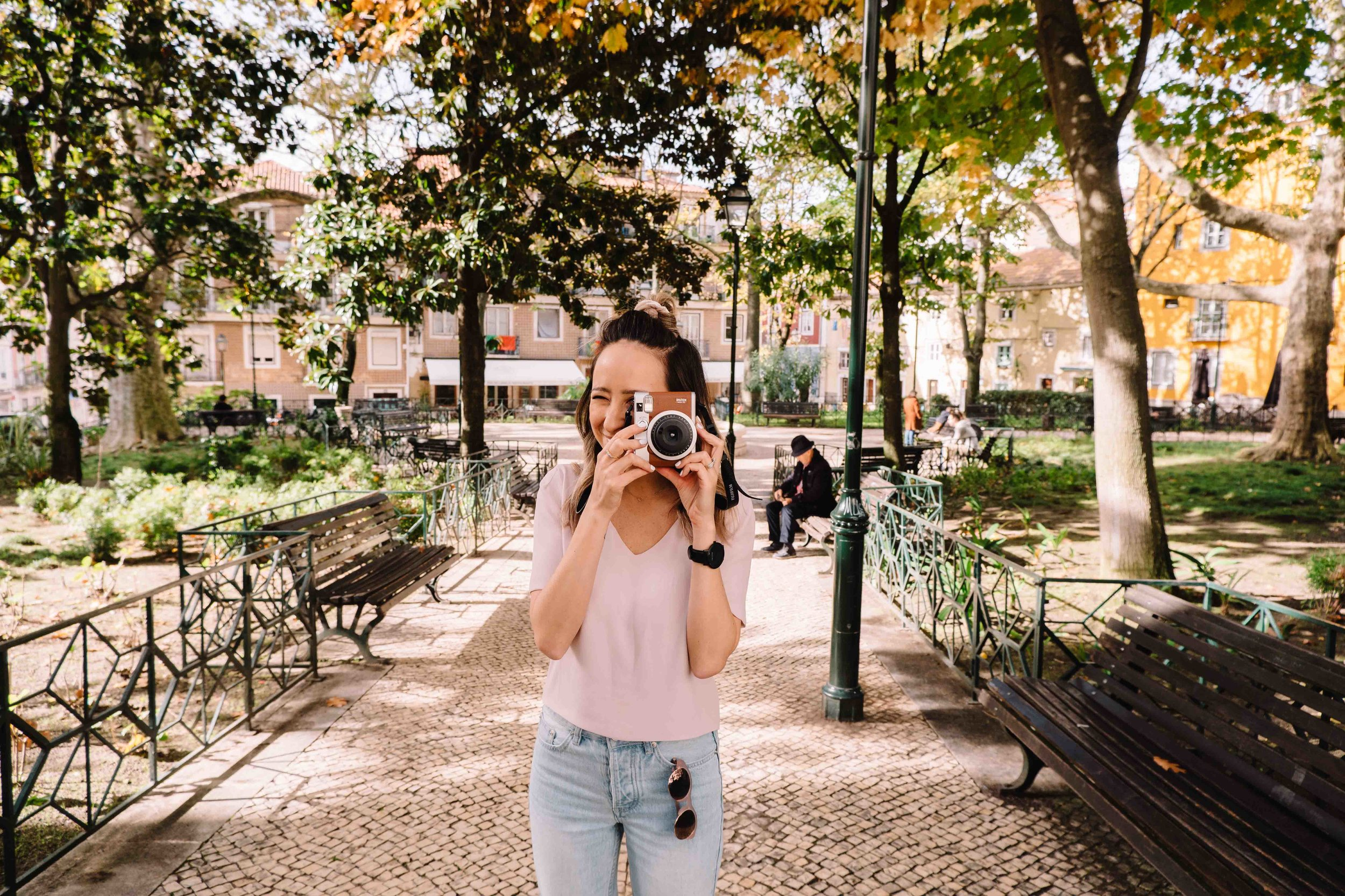 Snapping shots with our Fujifilm Instax 90 from Best Buy Canada