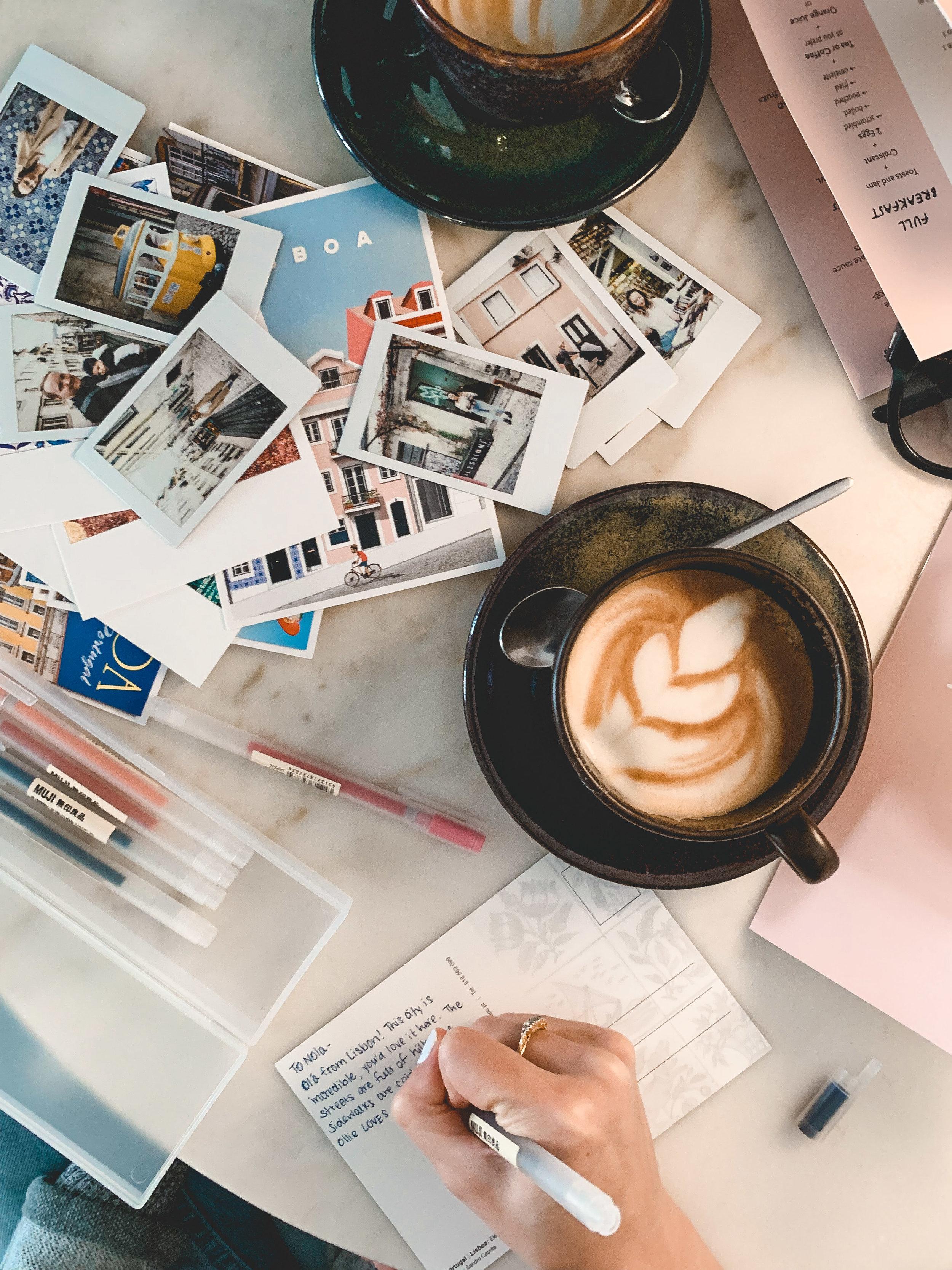 Dear Breakfast, writing our postcards