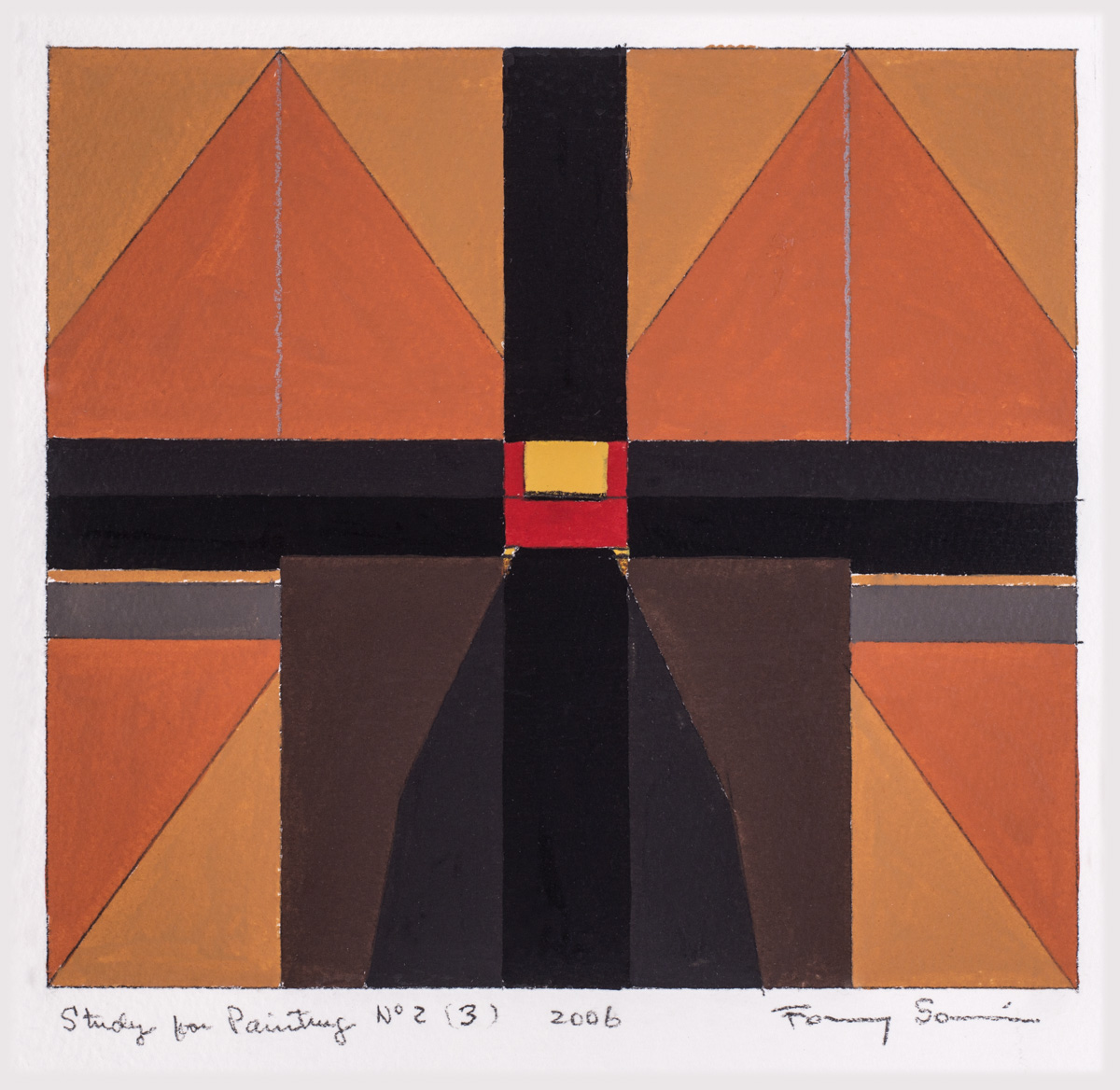 Fanny Sanin. Study for painting N 2(3), 2006