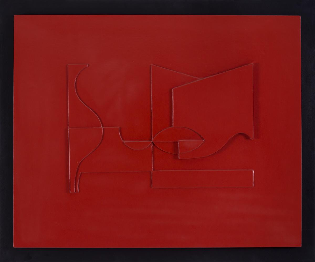 Eduardo Ramirez Villamizar. Boceto de relieve rojo, 1959