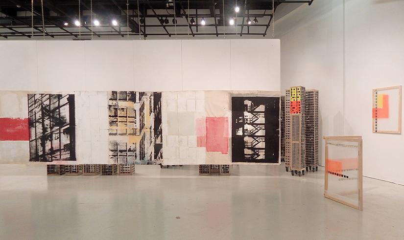 Juan Raúl Hoyos.Imagen de sala. Exposición, Archictectural Playground, 2016,