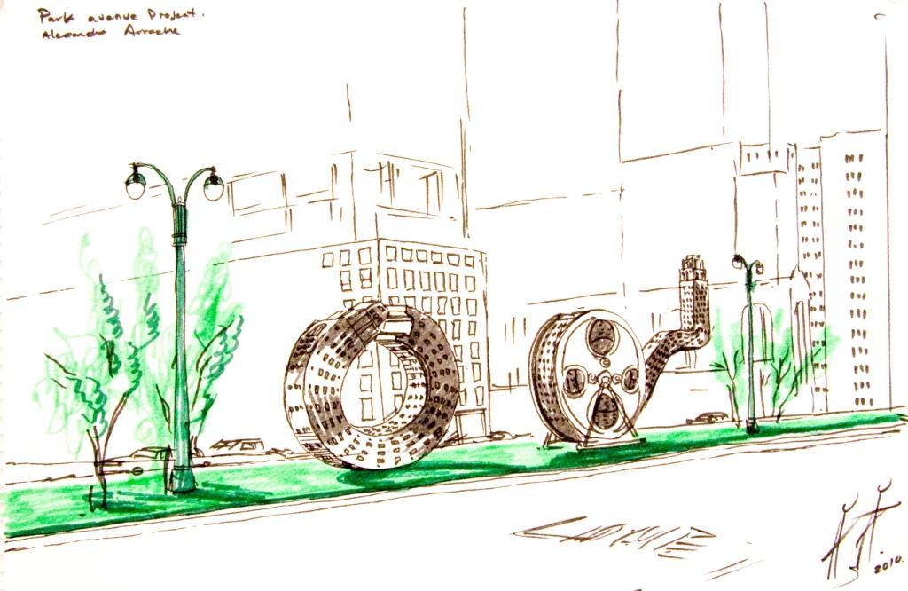 Park Ave Sketch 2, 2010