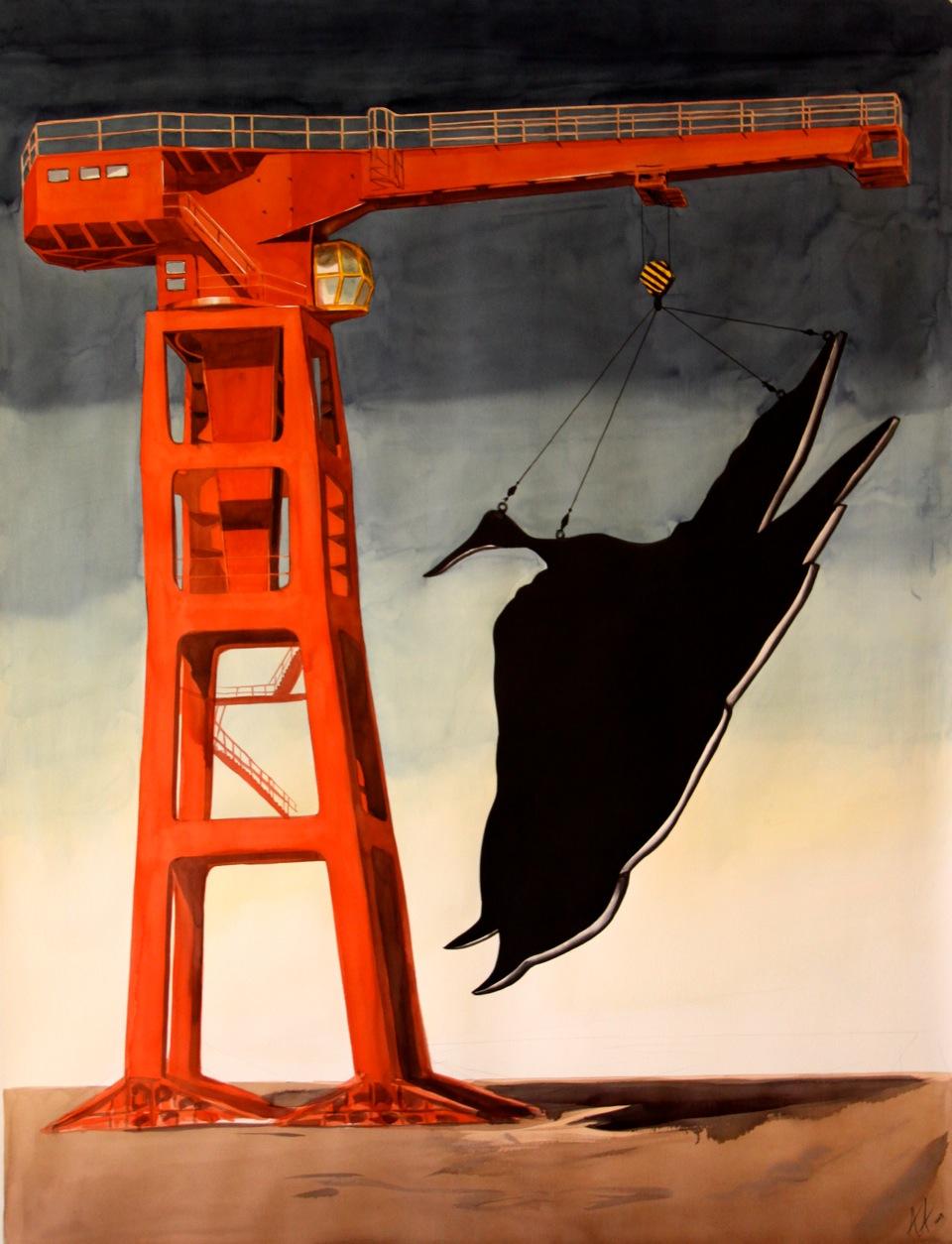 Dead bird flying II, 2009