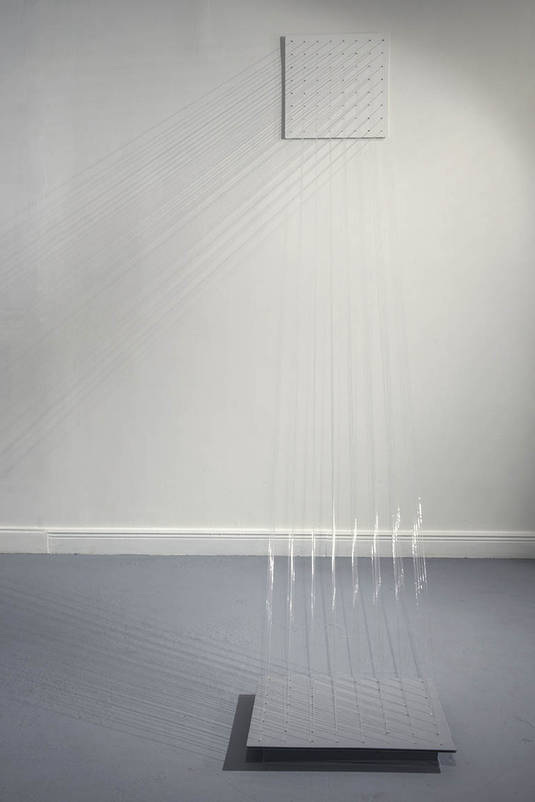 Carlos  Medina Fragmento de Cascada , 2016. Spatial Intervention. Nylon. Variable dimensions