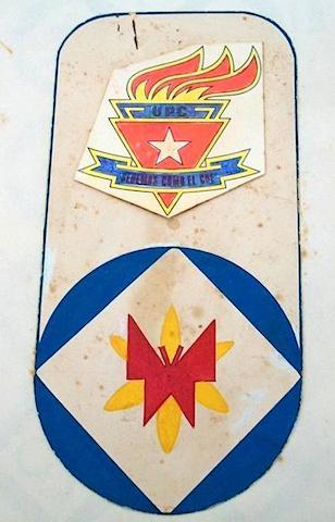 Distintivo de los pioneros cubanos. 1975. Extraido de CubaMaterial